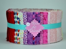 Tissu pour patchwork Jelly Roll Pinky