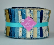 Tissu pour patchwork Jelly Roll Blue Sky
