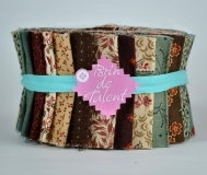 Quilt roll Victoria- jelly roll marron
