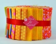 Quilt roll Trinidad jelly roll orange