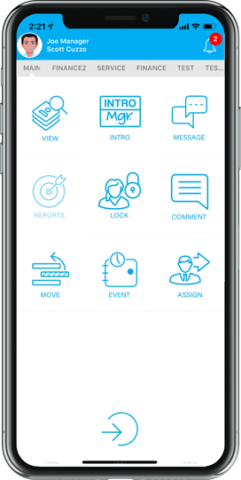 Nextup Mobile App Home Screen