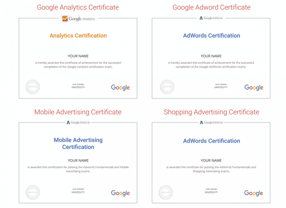 Google Adwords Certification, Get Certified by google and
