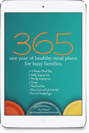one year of healthy meal plans for busy families