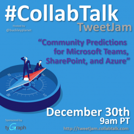 CollabTalk TweetJam December 2019 on Community Predictions for Microsoft Teams, SharePoint, and Azure
