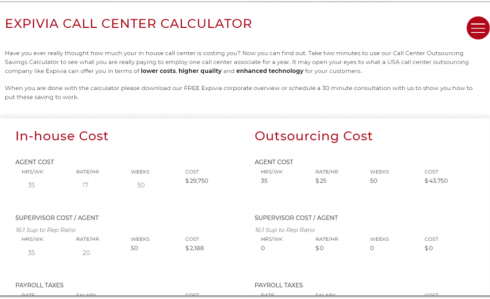 expivia call center Calc