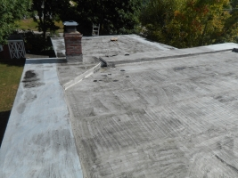 MOHAWK VALLEY COATINGS commercial roofing flat roof before