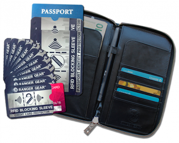 The Ranger Gear RFID Blocking Wallet and The Ranger Gear RFID Blocking Sleeves Pack!
