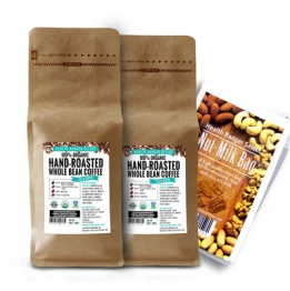 2 pack coffee with nut milk bag