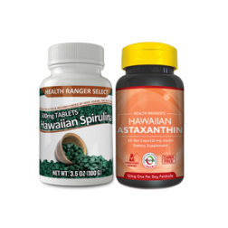 Hawaiian-Spirulina-500mg-3.5oz-+-Hawaiian-Astaxanthin-12mg-50-gelcaps-Combo-Pack
