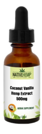 Coconut Vanilla Hemp Extract 500mg