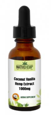 Coconut Vanilla Hemp Extract 1000mg