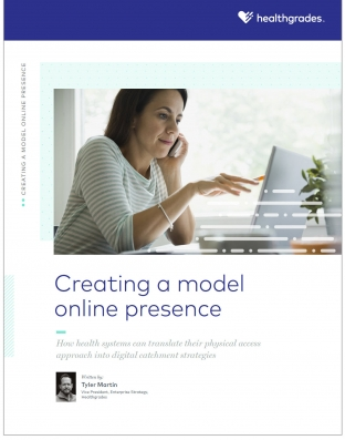 Cover: healthgrades - creating a model online presence