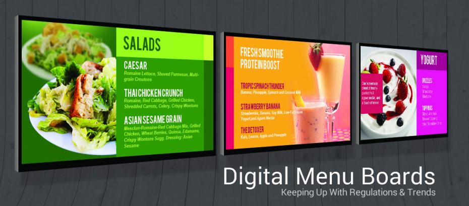 Digital Food Menu Boards