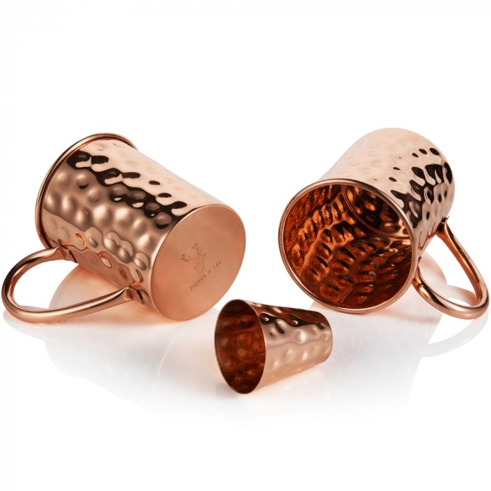 Copper Moscow Mule Mug Set 7