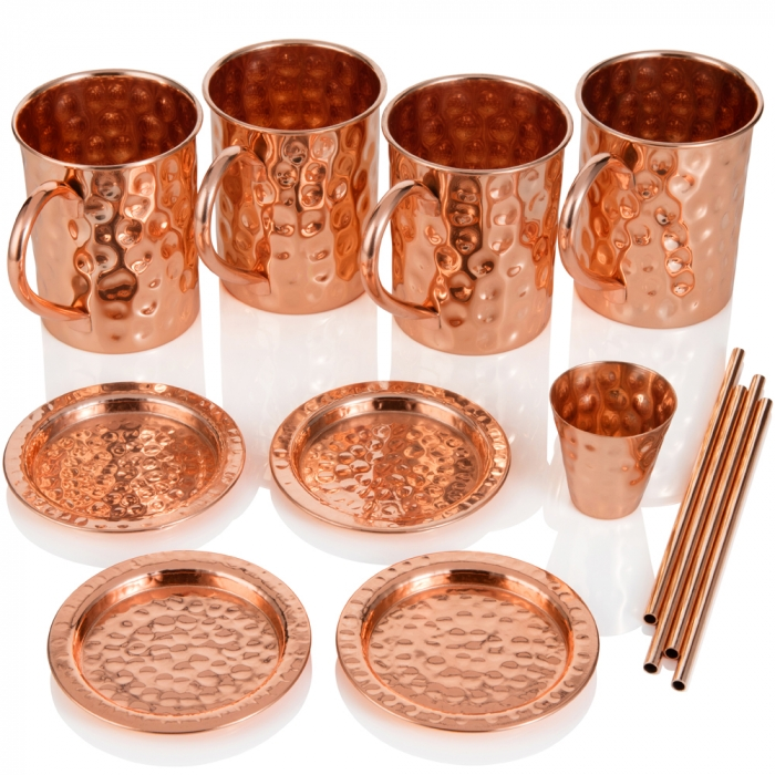 Copper Moscow Mule Mug Set 2