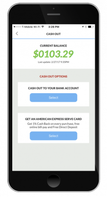 Gigbee app Cash Out Screen