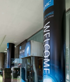 Pillar Wrap for EMC2 - Vinyl Impression Event Branding