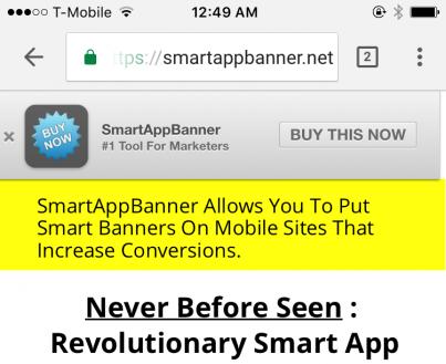 SmartAppBanner- Mobile Marketing Revolution