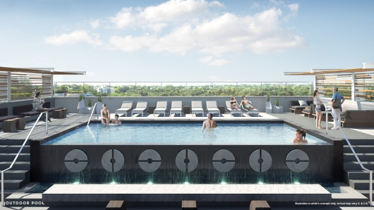 Vita Outdoor Pool Rendering