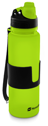 lime green nomader collapsible water bottle