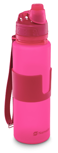pink nomader collapsible water bottle