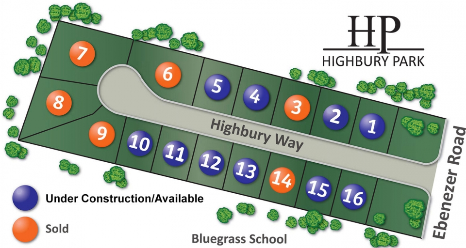 Highbury Park plot map
