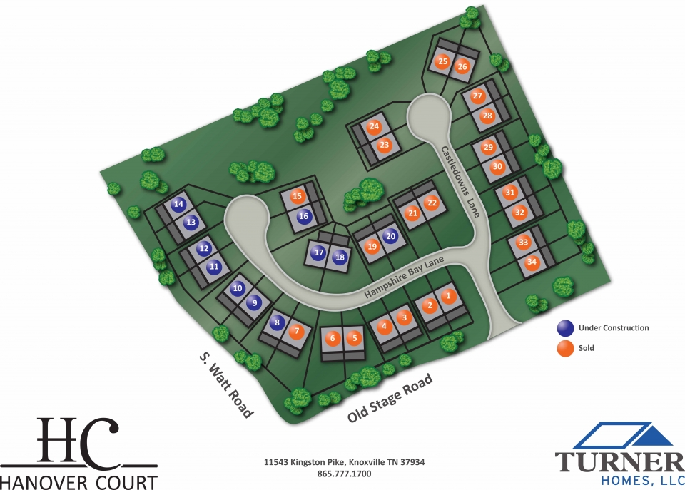 Hanover Court Community Plot Map