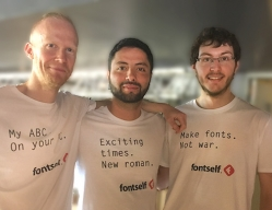 The Fontself team: Franz Hoffman, Mohamed Ghenania and Joël Galeran