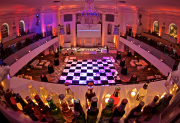 Black and White Checkerboard Dance Floor