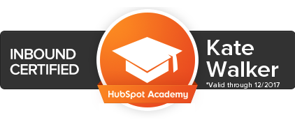 Hubspot Inbound Certification Kate Walker