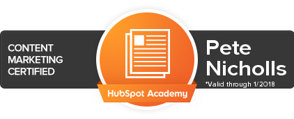 Hubspot Certification Peter Nicholls