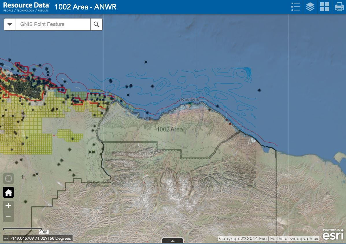 Anwr Alaska Map.Anwr 1002 Area Maps And It Services