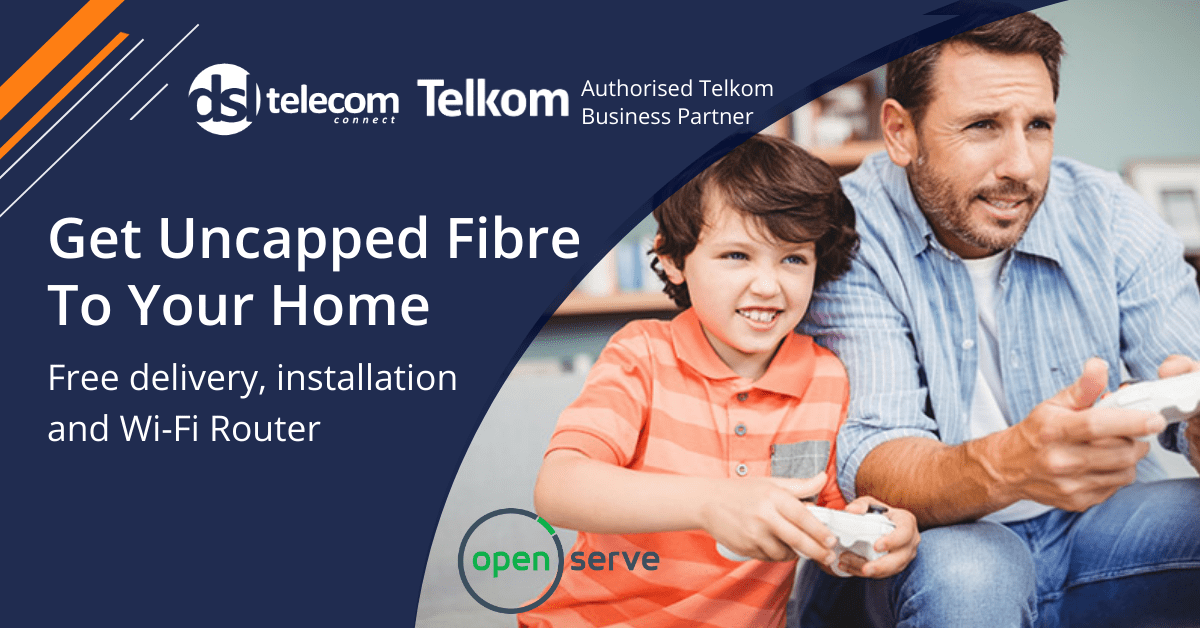 Telkom Uncapped Fibre Internet Deals Over The Openserve Network