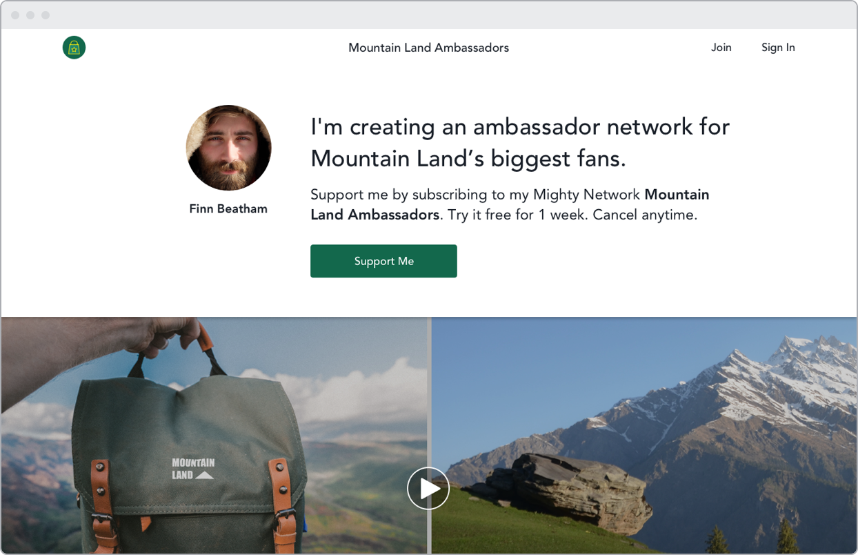 Create an ambassador community