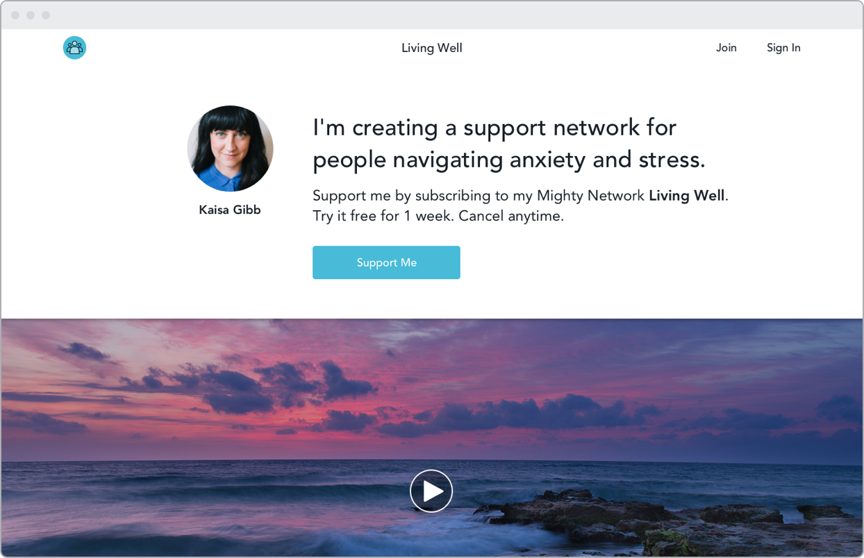 Create a support community