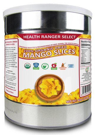 organic dried mango slices #10 can