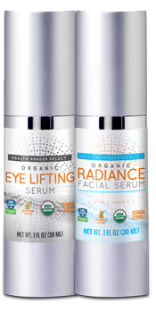 Organic Eye Lifting Serum and Organic Radiance Facial Serum
