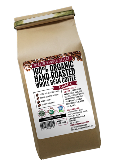 Organic Ethipica coffee beans