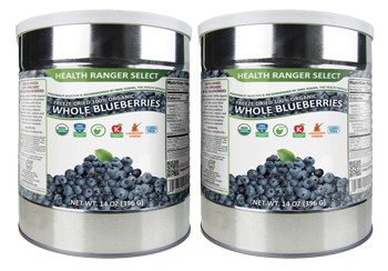 Freeze-Dried 100% Organic Whole Blueberries