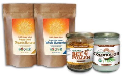 Bee Pollen Ice Cream Ingredients Set