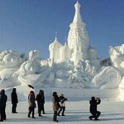 Escape to China's winter wonderland in the city of Harbin. If you're brave enough to face the freezing temperatures, you'll see the most impressive ice and snow sculptures at the Harbin International Ice and Snow Sculpture Festival. Then, head to a local restaurant where you can fill your stomachs with a warm Dong Bei meal.