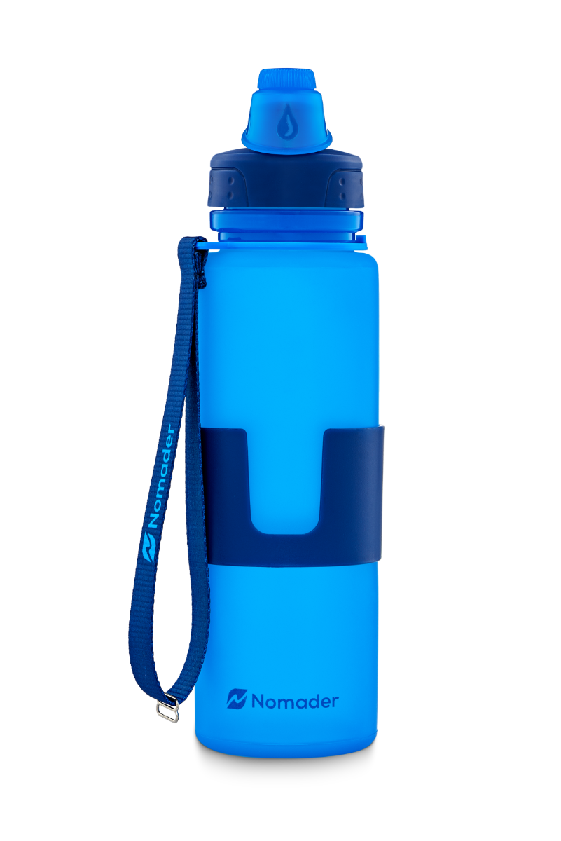550ml Portable Silicone Retractable Folding Water Bottle