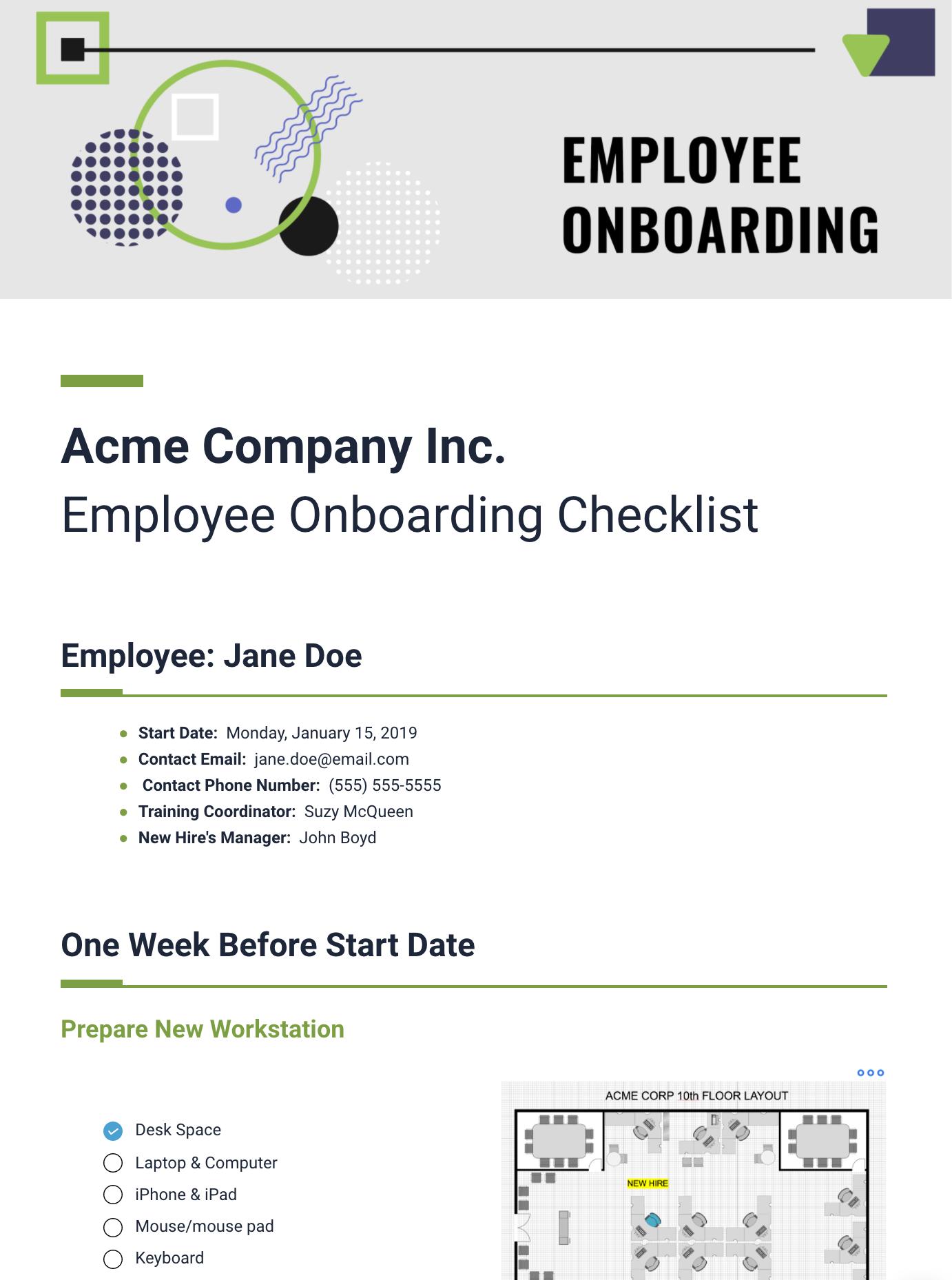 Employee Onboarding Template Bit Document Collaboration