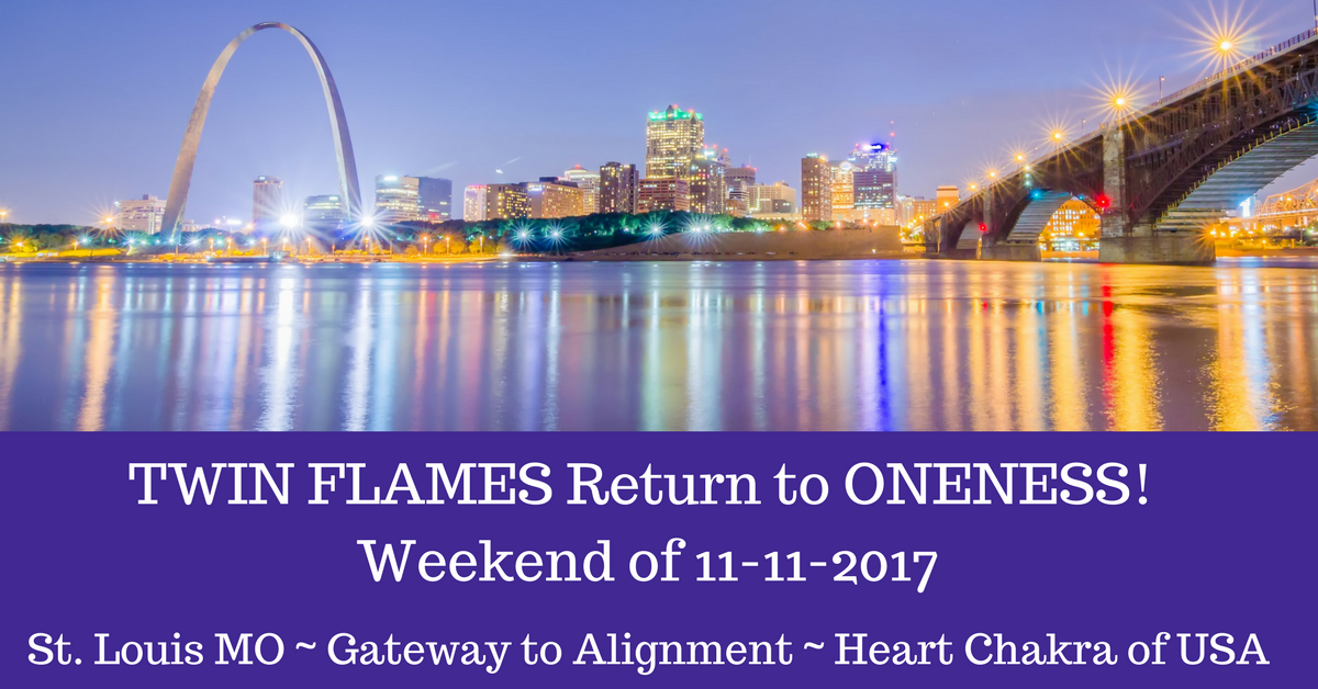 Twin Flames RETURN TO ONENESS Weekend of 11/11/2018