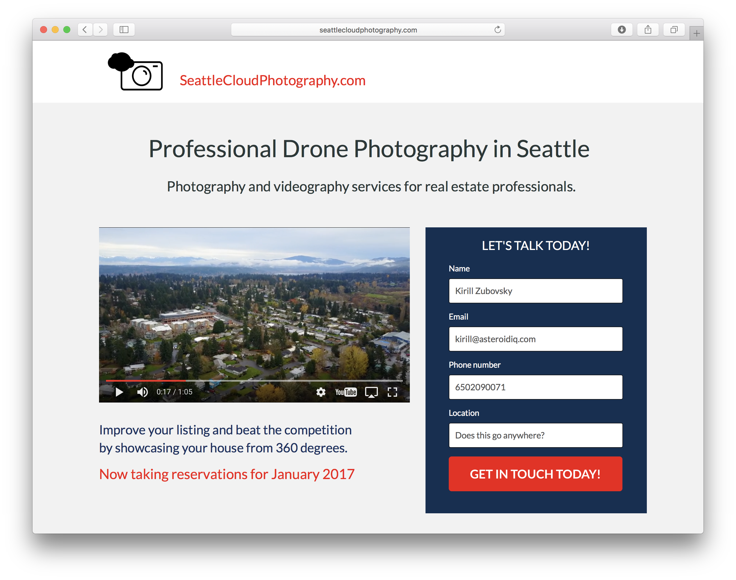 drone videos and photos in greater Seattle area