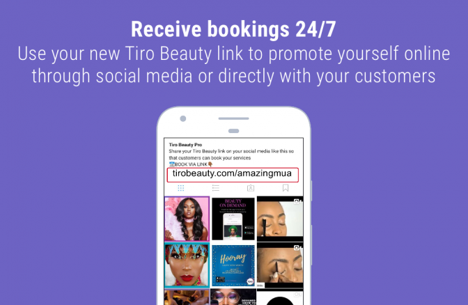 tiro beauty professional website