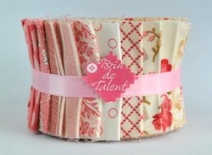 Jelly roll rose quilt roll Toulouse