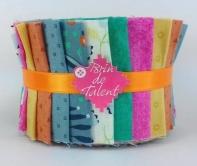 Quilt et patchwork brin de talent tissu pour patchwork jelly roll trs color tahiti fandeluxe Image collections