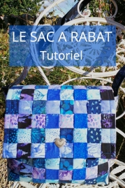 Tutoriel patchwork confection sac à rabat à partir des quilt rolls