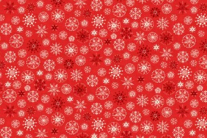 Fat quarter Noël Scandinave rouge avec flocons par Makower